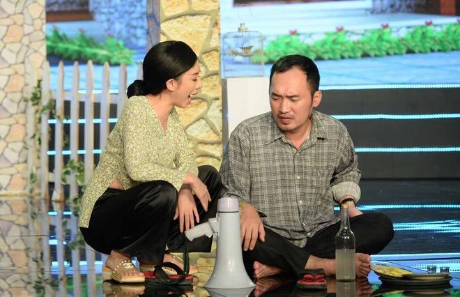 Ngoc Lan ngan NSUT Que Tran yeu Minh Lam trong tieu pham hai hinh anh 9