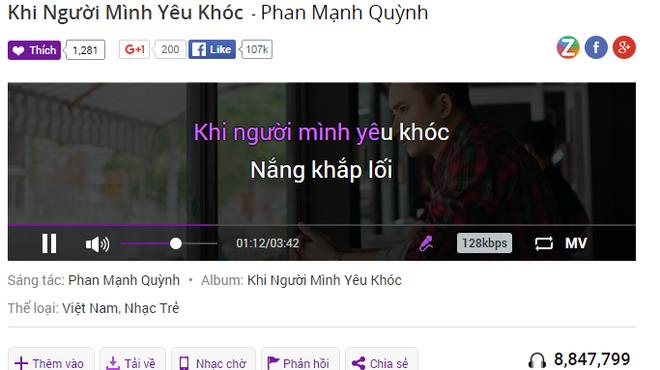 Hit moi cua Phan Manh Quynh chiem linh BXH Zing hinh anh 2