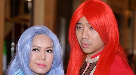 Viet Huong doi dau Tran Thanh trong game show moi hinh anh