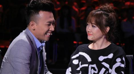 Tran Thanh benh vuc Hari Won khi ngoi ghe nong game show hinh anh