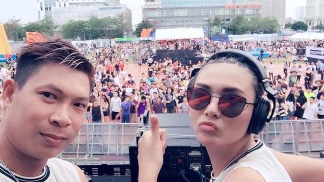 Hoang Yen, Lai Thanh Huong choi nhac ben 'phu thuy DJ' hinh anh
