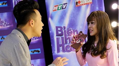 Tran Thanh cham soc 'ban sao cua Hari Won' o cuoc thi hat hinh anh