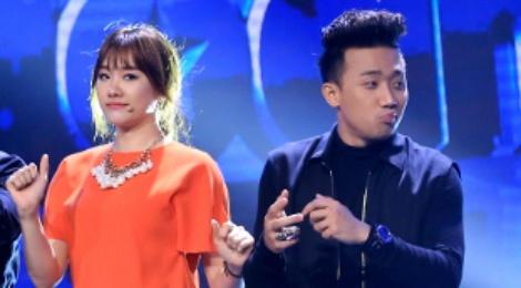 Hari Won tat 'gao nuoc lanh' vao Tran Thanh tren ghe nong hinh anh