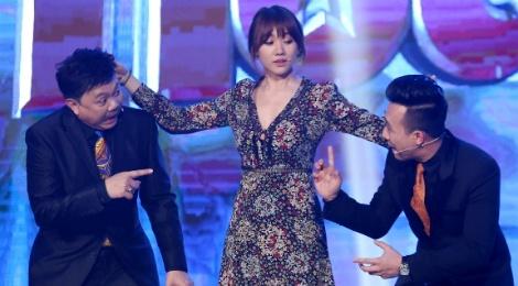 Hari Won 'hanh ha' Tran Thanh tren ghe nong hinh anh