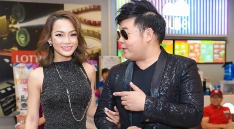 Quang Le di xem phim voi DJ King Lady hinh anh