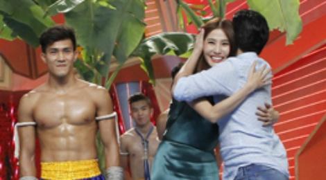 Truong Giang om chat Diem My 9X khi duoc khen dep trai hinh anh