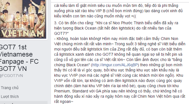 Fan GOT7 khong tat lightstick khi Noo Phuoc Thinh dang hat hinh anh 2