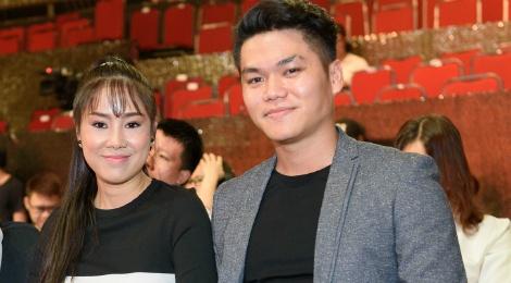 Le Phuong va chong sap cuoi lan dau tham gia game show hinh anh