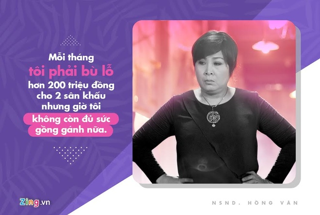 NSND Hong Van: 'Moi thang toi lo hon 200 trieu dong cho 2 san khau' hinh anh