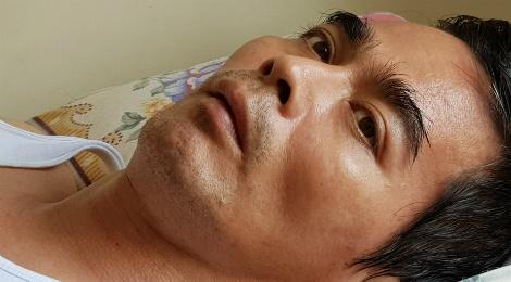 Nguyen Hoang len con sot nguy hiem khien gia dinh lo lang hinh anh