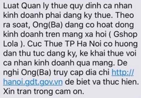 Ha Noi yeu cau 13.422 nguoi kinh doanh tren Facebook ke khai thue hinh anh 1