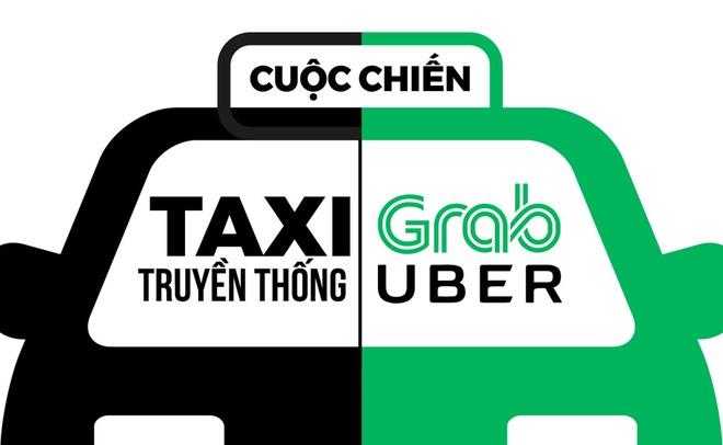 Khi nao taxi va Uber, Grab se chung song duoc voi nhau? hinh anh