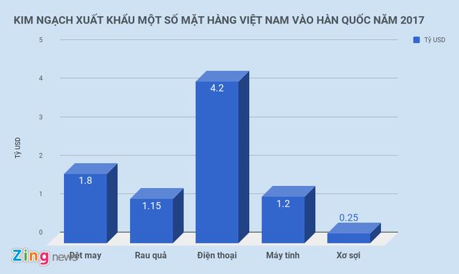Kim ngach thuong mai Viet Nam - Han Quoc tang 117 lan sau 25 nam hinh anh