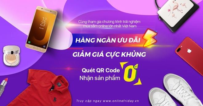 Khoi dong 'mua khuyen mai' Online Friday voi nhieu san pham 0 dong hinh anh