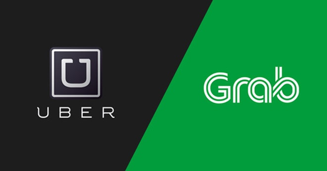 Uber va Grab bi Singapore phat 13 trieu SGD vi sap nhap hinh anh