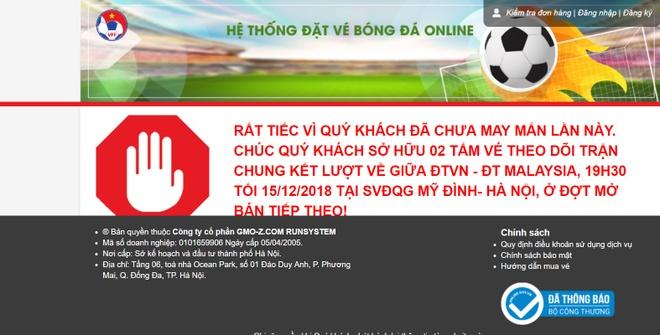 Ban ve chung ket AFF Cup luc 22h, website lai te liet sau vai phut hinh anh 1