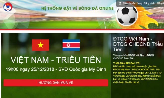 Mo ban ve tran Viet Nam vs Trieu Tien, sau 30 phut con gan 3.000 ve hinh anh