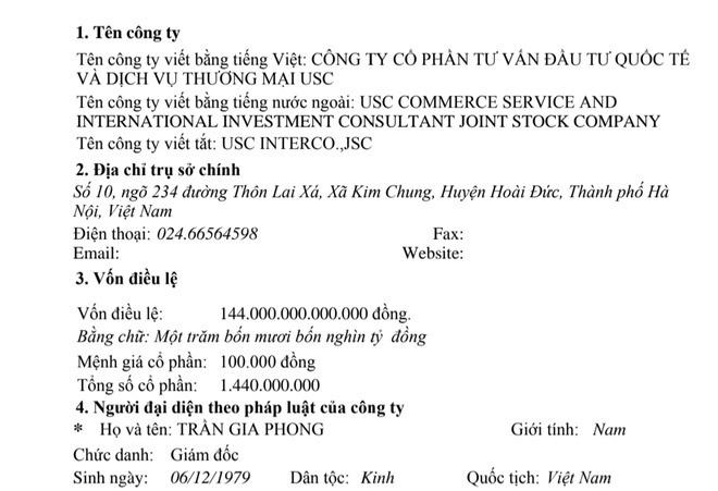 Ai la chu doanh nghiep moi dang ky thanh lap voi von 6,3 ty USD? hinh anh 1 dkkd.jpg