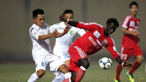 Chiến thắng 3-0 trước An Giang giúp Bình Dương có nhiều lợi thế trong cuộc đua vô địch.