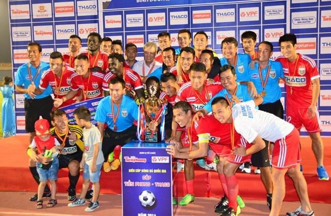 5 ung vien vo dich tai V.League 2015 hinh anh 1 Bình Dương là ứng viên số 1 cho ngôi vô địch V.League 2015. Ảnh: Nguyễn Đăng