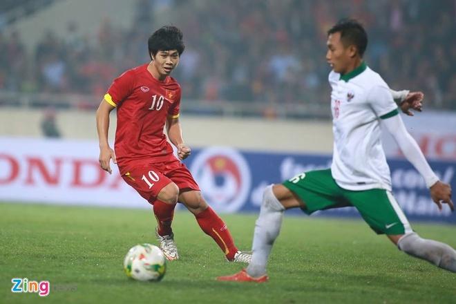 Công Phượng cùng đồng đội từng vượt qua U23 Indonesia hồi tháng 3. Ảnh: Anh Tuấn