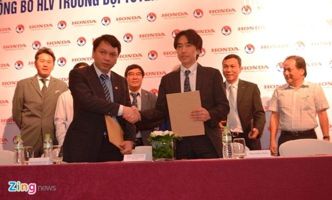 Bản hợp đồng giữa VFF và HLV Miura được kỳ hồi tháng 5/2014