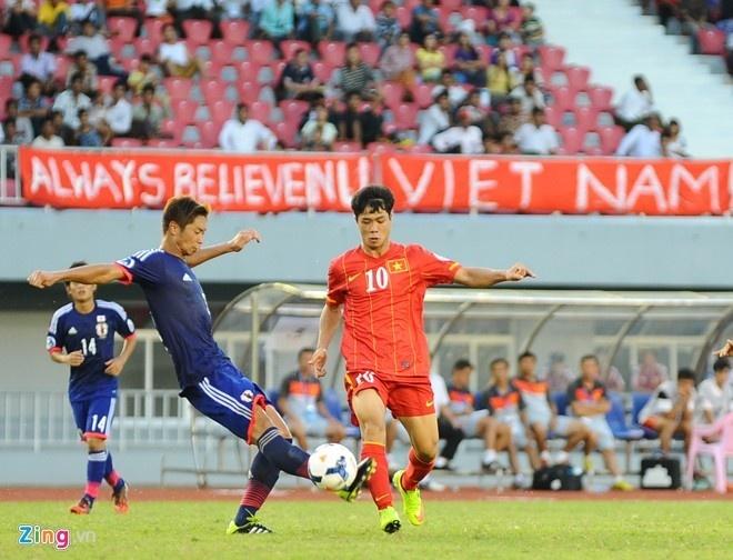 Bao Nhat goi lua Cong Phuong la the he vang hinh anh 2 Công Phượng trong màu áo U19 Việt Nam đối đầu U19 Nhật Bản tại vòng chung kết U19 châu Á năm 2014.