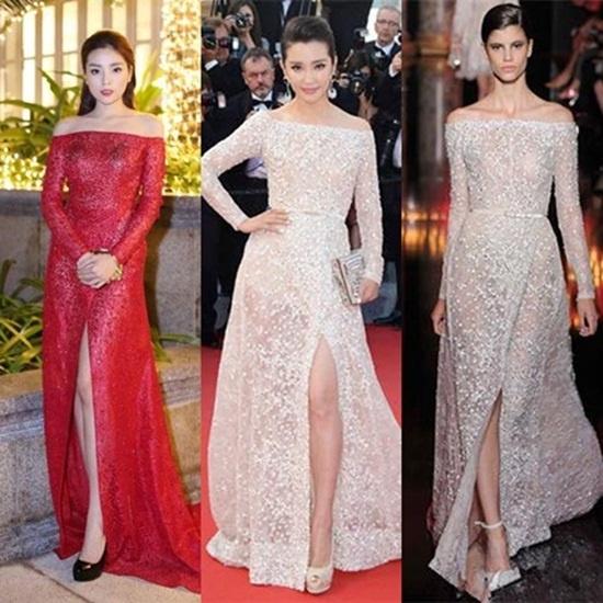 Pham Huong, Thu Thao, Ky Duyen cung mac vay nhai? hinh anh 7
