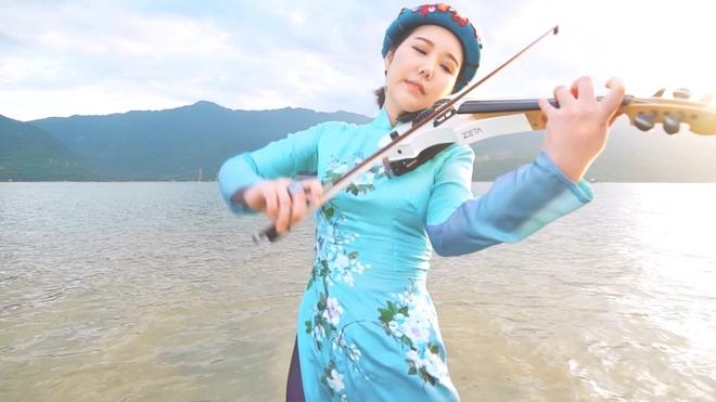Nghe si violin Han Quoc di khap Viet Nam de lam MV hinh anh