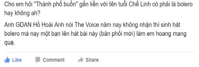 Tranh cai viec The Voice loai bolero van co 'Thanh pho buon' hinh anh 1