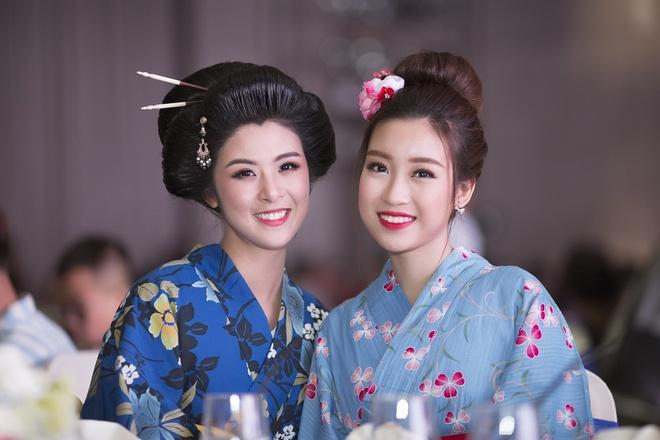 Hoa hau Ngoc Han, My Linh do dang voi trang phuc kimono hinh anh 6