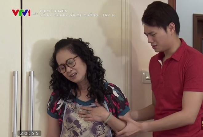 'Song chung voi me chong' tap 16: Ba Phuong bi con dau quat hinh anh 1