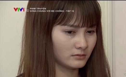 'Song chung voi me chong' tap 16: Ba Phuong bi con dau quat hinh anh