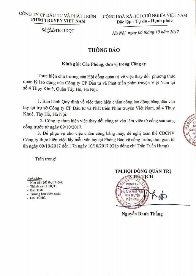 Cham cong lao dong nghe si Hang phim truyen VN bang dau van tay hinh anh 1