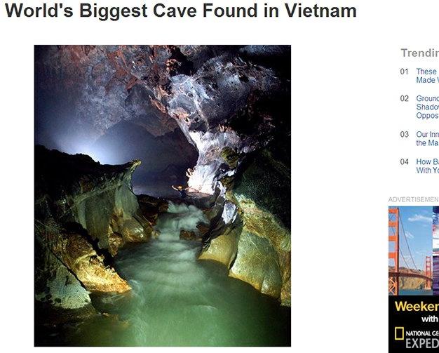 Tu Petra 360 den Son Doong 360 hinh anh 3 Hình ảnh Sơn Đoòng trên tạp chí National Geographic.