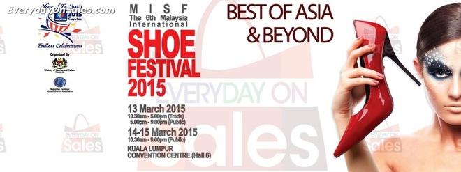 6. Lễ hội Giày Quốc tế Malaysia. Từ giày gót nhọn quyến rũ đến những đôi dép thời trang, những đôi giày cao gót cổ điển và những đôi boot thời thượng, lễ hội sẽ đưa khách tham quan vào cuộc hành trình hấp dẫn tới thế giới thiết kế giày dép. Trải nghiệm mua sắm giày Jimmy Choo và tận hưởng chương trình giảm giá hấp dẫn cho các mẫu giày mới nhất của những nhà thiết kế trong nước và quốc tế. Lễ hội Giày Quốc tế Malaysia lần thứ 56 này sẽ mang lại cho bạn đa dạng mẫu mã giày dép,, những buổi trình diễn thời trang, biểu diễn nghệ thuật làm giày và cuộc thi thiết kế giày. Thời gian: 3 - 5/04/2015 tại PWTC, Kuala Lumpur.