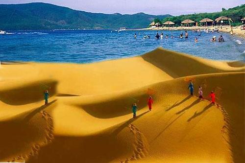 Thành phố Phan Thiết. Phan Thiết cũng là một trong những thành phố biển tuyệt đẹp của Việt Nam, nằm ở tỉnh Bình Thuận. Trước đây cái tên Phan Thiết còn khá xa lạ thì ngày nay thành phố đã trở nên quen thuộc với đông đảo du khách trong và ngoài nước. Bằng chứng cho sự phát triển của Phan Thiết phải kể đến biển Mũi Né, bãi biển đẹp chuẩn với sự phát triển chóng mặt. Hàng trăm resort cao cấp đã mọc lên nhanh chóng tại Mũi Né chỉ trong thời gian ngắn, khiến nơi đây trở thành một điểm đến lý tưởng để thư giãn, tắm biển và nghỉ dưỡng. Ảnh: Thaiduongtourist.