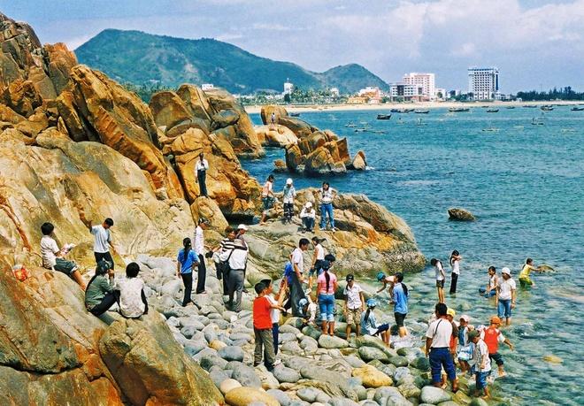 Một số bãi biển khác tại Quy Nhơn cũng rất được ưa thích như bãi biển Quy Hòa - bãi biển êm đềm với hàng dương xanh đung đưa theo gió. Ngoài ra còn có bãi Bàu, bãi Xép, bãi Dại, bãi Nhổm… đều là những bãi biển đẹp hoang sơ, và ít bị ảnh hưởng bởi sự khai thác ồn ào của ngành du lịch. Ảnh: Dulichbinhdinh.