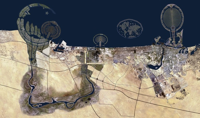 """Nhung buc anh 'Chi co the la Dubai' hinh anh 1 Là một trong bảy tiểu vương quốc của Các tiểu vương quốc Ả rập thống nhất UAE, có lẽ chỉ có thể dùng hai từ khi nói về Dubai: xa hoa và khác lạ. Chỉ trong chưa đến ba mươi năm, từ một làng chải nhỏ với hoạt động chủ yếu của dân chúng là chăn nuôi de, cừu, trồng chà là …, Dubai giờ đã vươn mình trở thành """"giấc mơ phương Đông"""", """"viên ngọc giữa sa mạc Ả rập""""."""