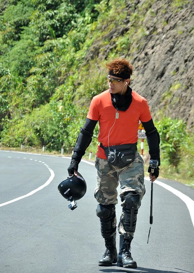 Linh Son mat an mat ngu truoc khi di phuot hinh anh 2 Linh Sơn có niềm đam mê đặc biệt với phượt.