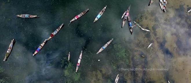 Canh dep Viet Nam nhin tu flycam hinh anh 2 Một số cảnh đẹp Việt Nam nhìn từ trên cao. Ảnh chụp từ clip.