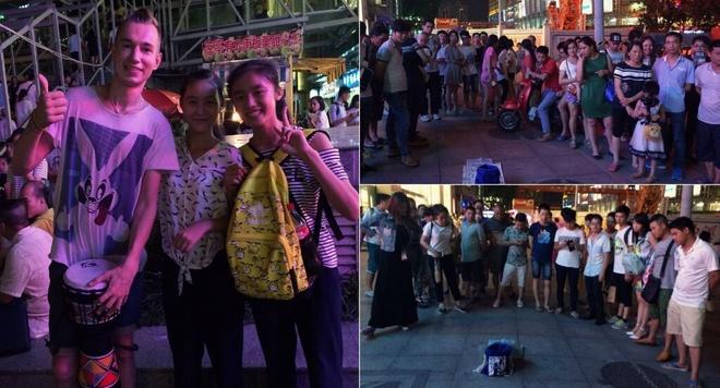 Phuot 25 nuoc voi hon 40 trieu dong hinh anh 9 Đánh trống gây quỹ tại Trung Quốc.