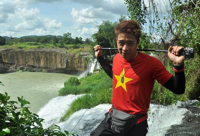 Hanh trinh phuot 2.200 km cua 'hotboy noi loan' hinh anh 6 Thác Dray Sáp (Đắk Lắk) khiến chàng hotboy mê mẩn bởi cảnh đẹp hòa quyện giữa núi rừng đại ngàn với dòng thác hiền hòa mà thơ mộng.
