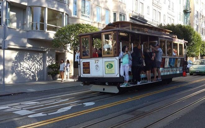 Xe điện ở San Francisco, Mỹ hoạt động từ năm 1873.
