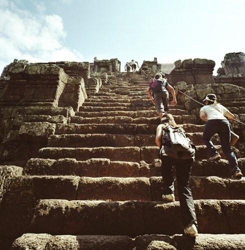 Chiem nguong nhung cau thang dep nhat the gioi hinh anh 5 Cầu thang bằng đá ở Siem Reap, Campuchia.