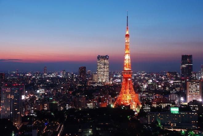 Nhung diem tham quan khong ton tien o Tokyo hinh anh 3 Tháp Tokyo trong đêm. Ảnh: Alljapantours.