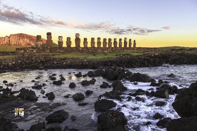 Săn bình minh trên đảo Phục Sinh, Chilê.