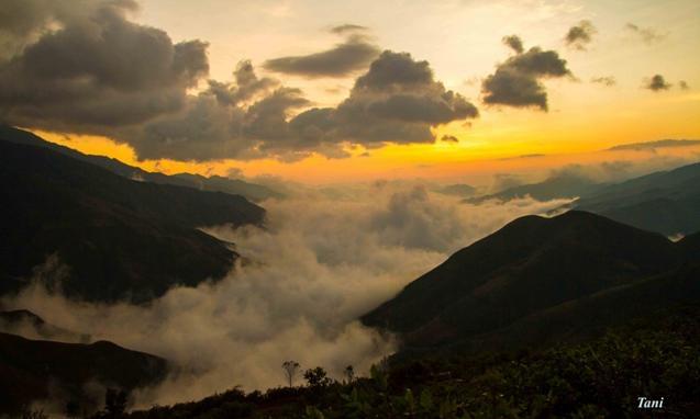 Dai duong may menh mong tren dinh Ta Xua - Son La hinh anh 3 Buổi sáng sớm tại Tà Xùa.