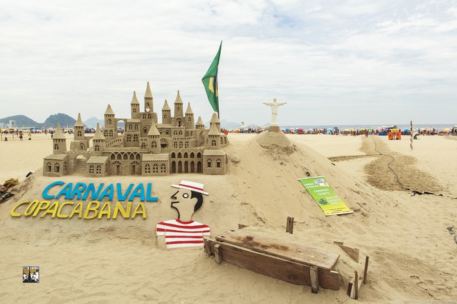 Rio de Janeiro mua carnival - diem den so 1 cua tour Nam My hinh anh 3 Bãi biển quyến rũ Copacabana ở thành phố Rio de Janeiro.