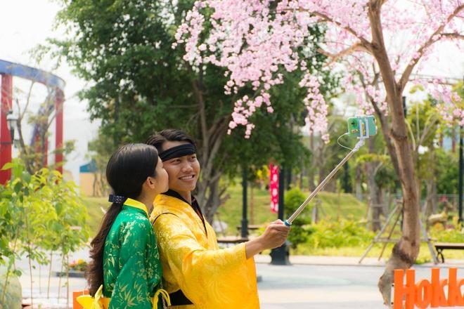 Gioi tre Da Nang dien kimono du hoi hoa anh dao hinh anh